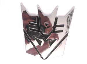 Transformers Decepticon Chrome Emblem 13 cm Tall - Prop Replica